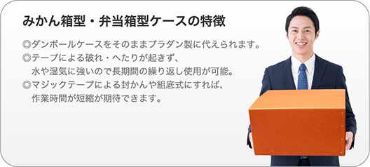 みかん箱型・弁当箱型ケースの特徴